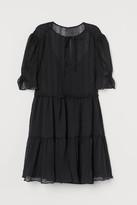 H&M Crinkled Dress - Black
