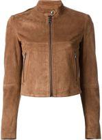 Theory suede 'Bavewick' jacket - women - Lamb Skin/Polyester/Polyurethane - M