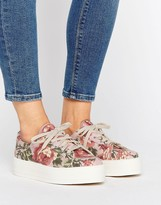 Asos DAY Flatform Canvas Sneakers