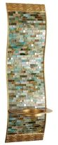Pier 1 Imports Mosaic Wave Pillar Candle Wall Sconce