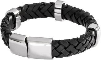 Bery Dale Braided Leather Bracelet with a Metal Clasp