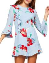 Miss Selfridge Floral Frill Playsuit