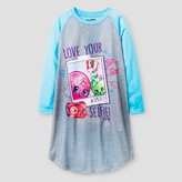 Shopkins Girls Shopkins Nightgown - L (10-12) Grey