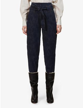 Sessun Garnet tapered high-rise denim trousers