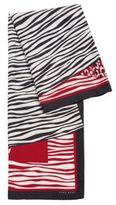 HUGO BOSS Lawera Animal Print Silk Scarf One Size Patterned
