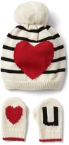 Gap Love you hat and mitten set
