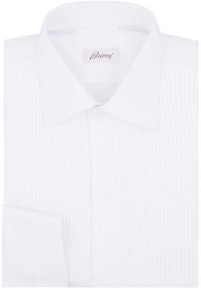 Brioni Pleated Front Tuxedo Shirt