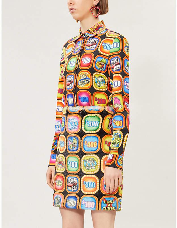 Moschino Graphic-print satin shirt