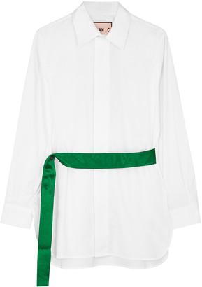Plan C White Poplin Shirt