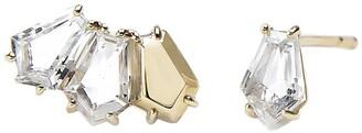 BONDEYE JEWELRY 14kt gold topaz Selene stud earrings