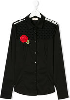 Monnalisa Chic floral embroidered shirt