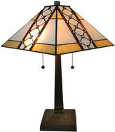 AMORA Amora Lighting AM237TL14 Tiffany Style Multicolored Mission Table Lamp 21 inches