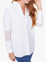 NYDJ Popover Tunic Shirt, Optic White