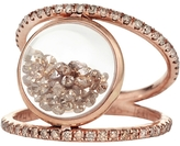 Moritz Glik Double Band Loose Champagne Diamond Ring