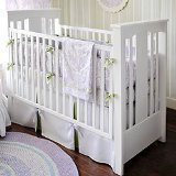 New Arrivals Inc. Sweet Violet 4 Piece Crib Bedding Set