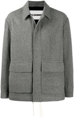 Jil Sander Oversized Drawstring-Hem Shirt Jacket