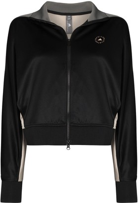 adidas by Stella McCartney Stripe-Pattern Zip-Up Track Jacket