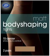 Boots Bodyshaping Matt Nude Tights 2 Pair Pack