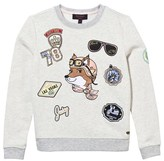 Juicy Couture Cream Fox Applique Sweatshirt