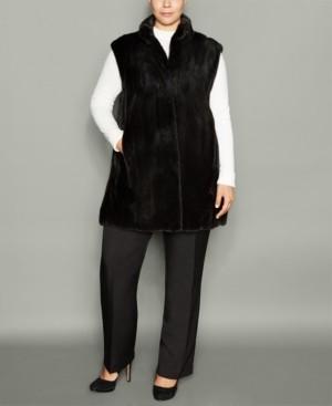 The Fur Vault Plus Size Mink Fur Vest