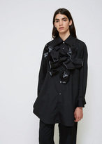 Comme des Garcons Black / White Long Sleeve Bust Detail Shirt