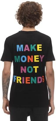 Make Money Not Friends Multi Logo Print Cotton Jersey T-shirt