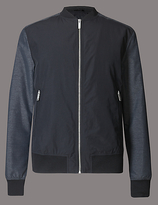 Autograph Contrast Sleeve Bomber Jacket With Stormweartm
