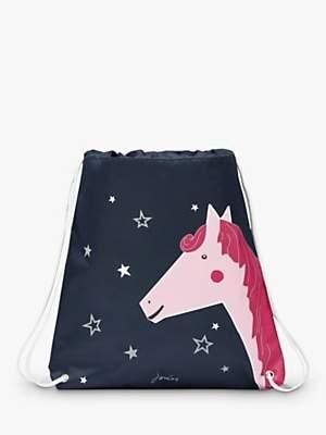 Joules Little Joule Children's Horse Print Glow In The Dark Active Bag, Navy