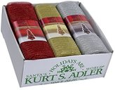 Kurt Adler 1 Set 3 Assorted Red, Gold And Silver Knit Fabric