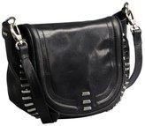 Kelsi Dagger black distressed leather stud detail 'Harley' crossbody saddle bag