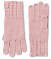 Lands' End Women's Fine Gauge Cable Knit Glove-Black