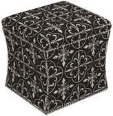 Skyline Furniture Mfg. Nail Button Storage Ottoman in Paris Tile Black