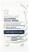 Superdrug Facial Cleansing Travel Wipes 10 Micellar