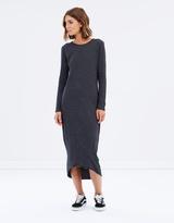 Rusty Code Long Sleeve Maxi Dress