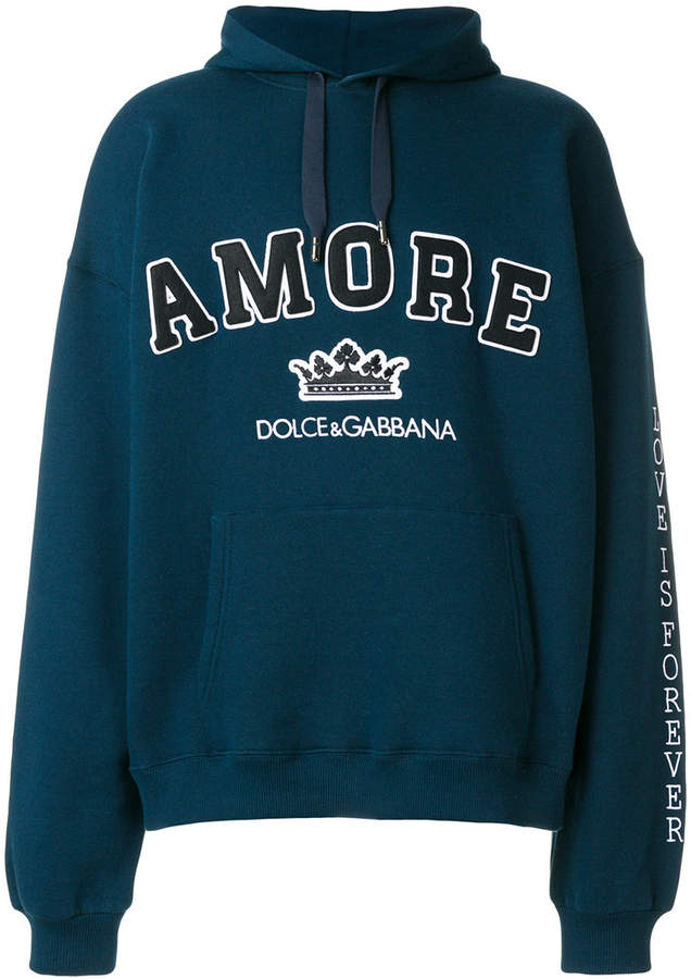 Dolce & Gabbana Amore varsity hoodie