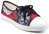 Anne Klein Zagger Cap Toe Lace-Up Printed Sneakers