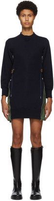 Sacai Navy Sponge MA-1 Dress