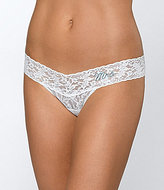 "Hanky Panky Mrs."" Low-Rise Lace Thong"
