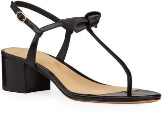 Alexandre Birman Clarita T-Strap Block-Heel Sandals