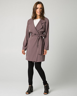 Le Château Woven Notch Collar Trench Coat