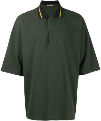 Bottega Veneta Striped Collar Polo Shirt