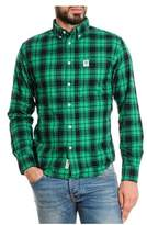 Franklin & Marshall Men's Green Cotton Shirt.