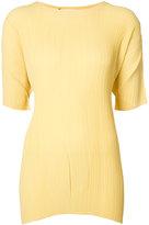 Jil Sander pleated T-shirt - women - Polyester - 34