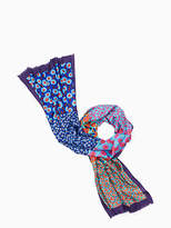 Kate Spade Tangier floral silk oblong scarf