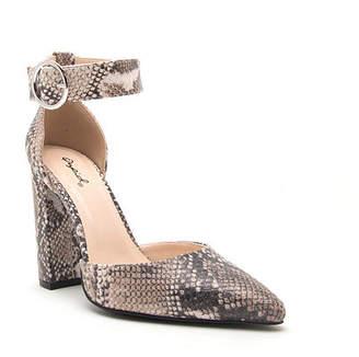 Qupid Womens Signal 40 Pumps Pointed Toe Block Heel