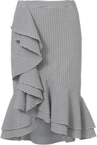 Exclusive for Intermix Sylvia Ruffle Front Gingham Skirt