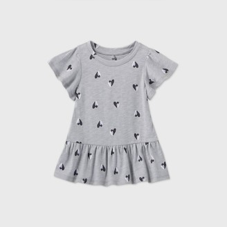Cat & Jack Toddler Girls' Heart Short Sleeve T-Shirt - Cat & JackTM