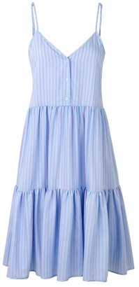 Mads Norgaard Pastel Purple Stripe Visco Ditza Dress - 34