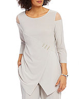 IC Collection Mesh Inset Cold Shoulder Tunic
