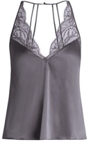 Fleur of England Eclipse silk-blend satin cami top